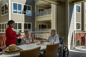 Enhanced Independent Living / Assisted Living Balcony